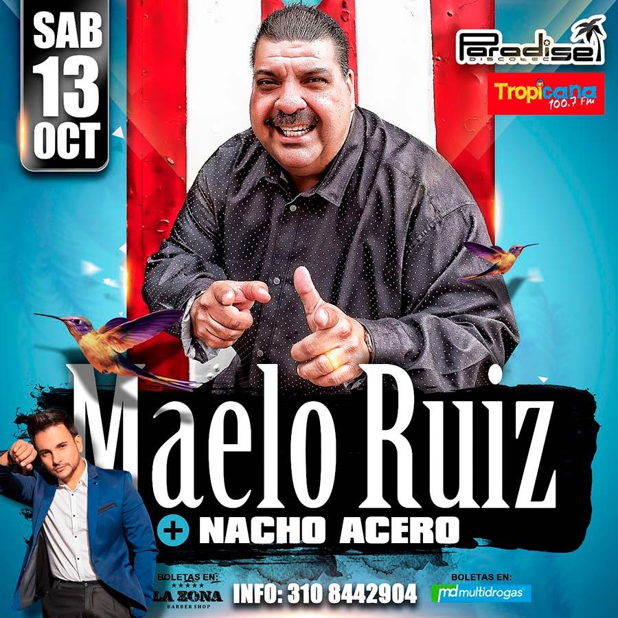 Maelo Ruiz en Paradise – Octubre 13 de 2018