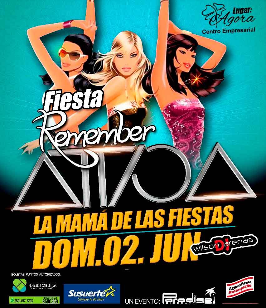 Remember Attica llega a Viterbo! Junio 2 en el Centro Empresarial Ágora