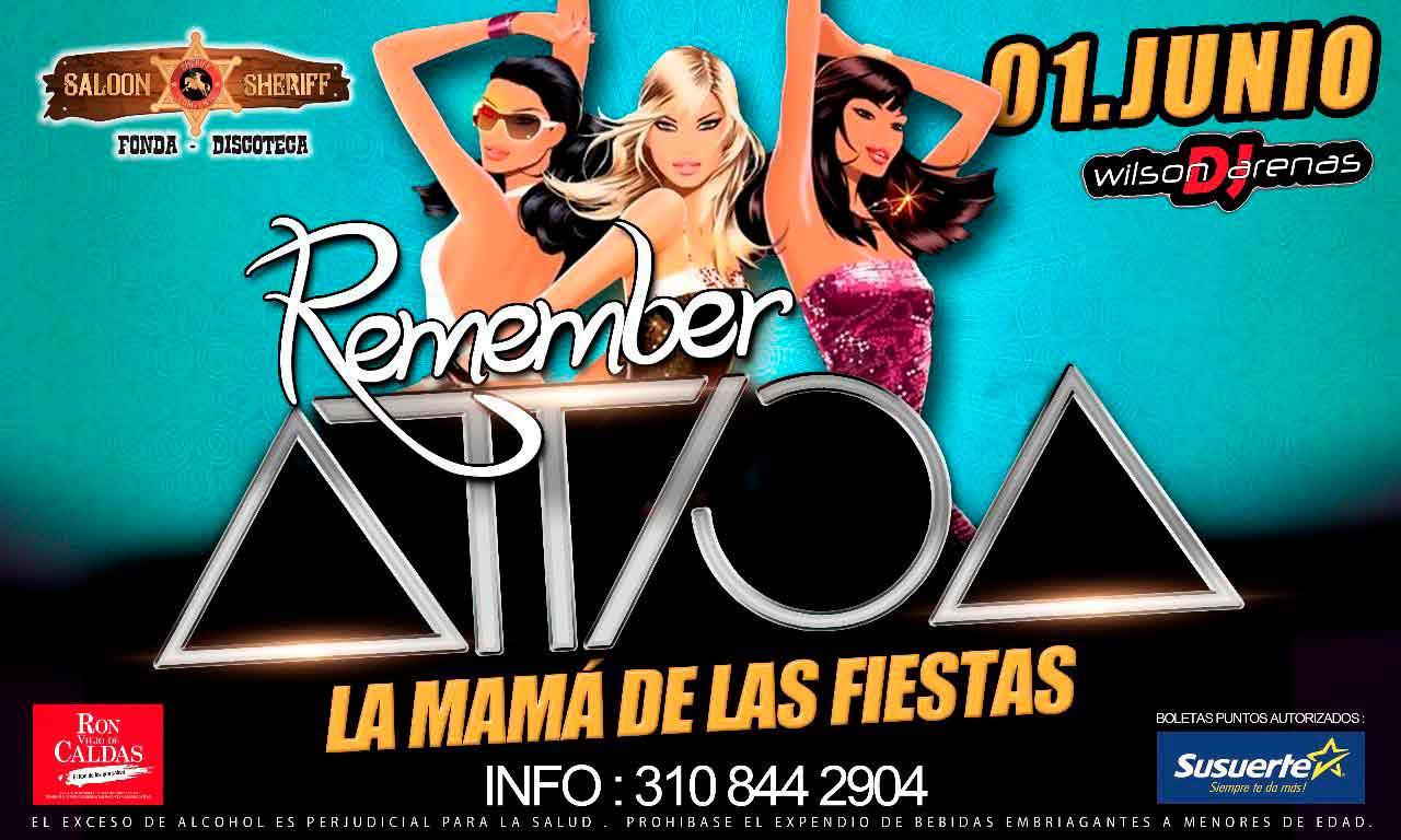 Remember Attica regresa a Chinchiná – Junio 1 en la Discoteca el Sheriff