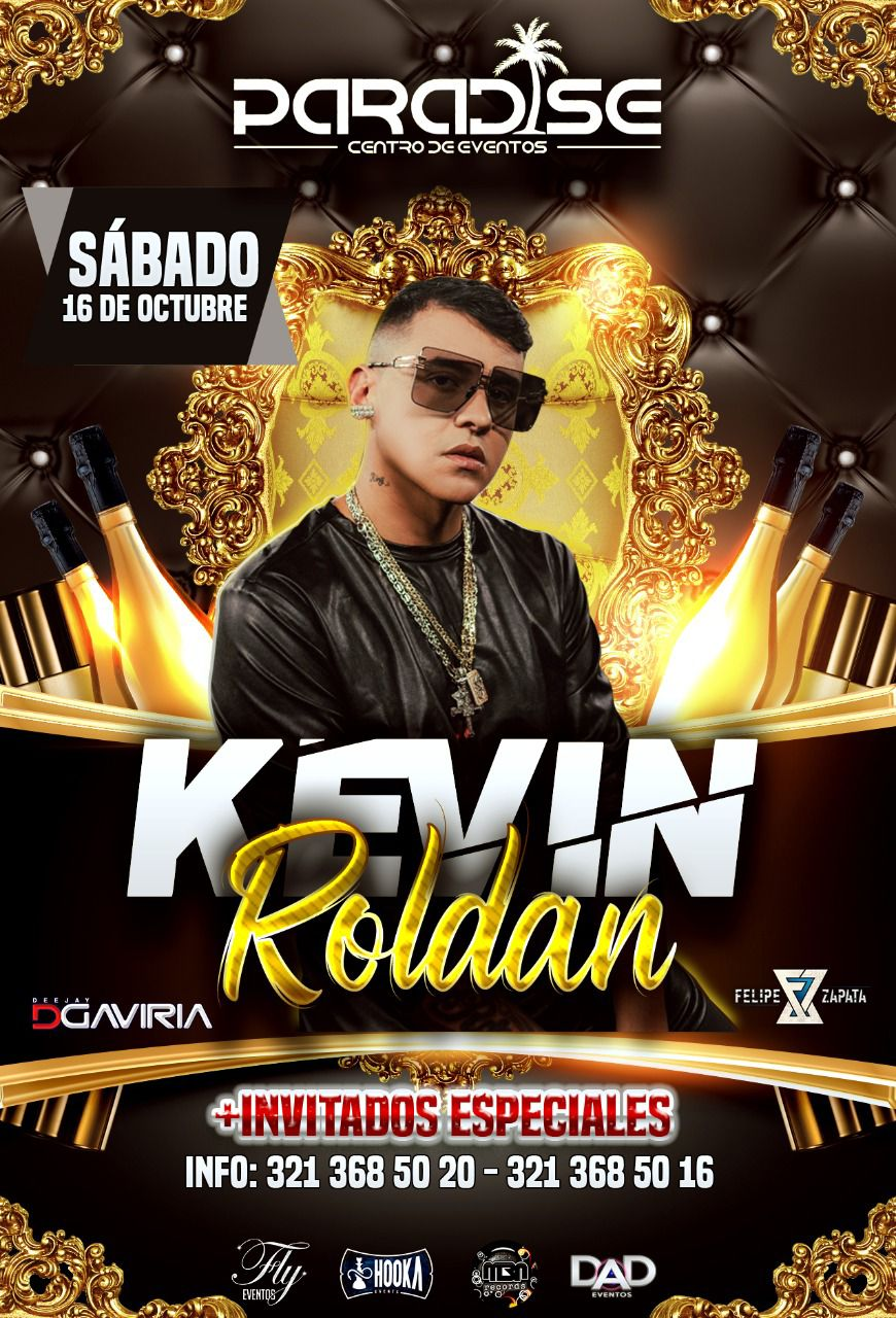 Kevin Roldan en concierto! Sáb. 16 de octubre