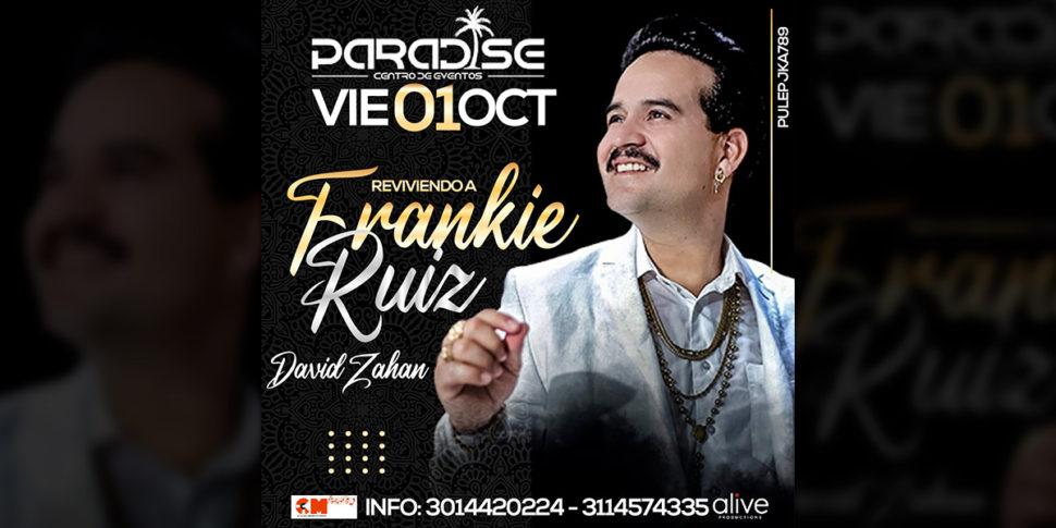 Recordando a Frankie Ruiz con David Zahan en concierto!